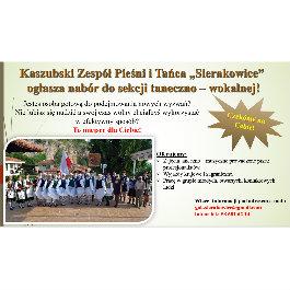 Nabór do Kaszubskiego Zespołu Pieśni i Tańca - Sierakowice