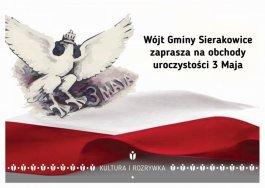 Uroczystości 3 Maja w Sierakowicach
